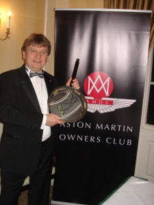 """Mick Newson with the """"Over Cooked It"""" Trophy"""
